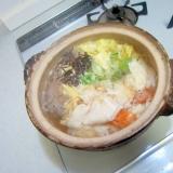 葱とワンタン木耳しらたき白菜人参スープ