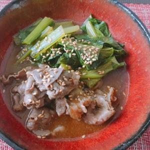 牛肉と小松菜のごま煮☆ご馳走