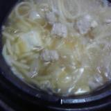 鶏ミンチ鍋