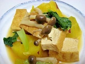 厚揚げとサツマイモの煮物