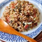 雑穀ご飯で作る高菜チャーハン