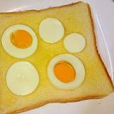 ゆで卵でバターエッグトースト