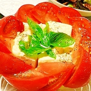 塩麹豆腐とトマトのイタリアンサラダ