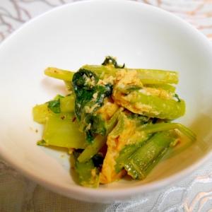 味付け出汁パックを使って簡単!小松菜と卵の炒め物♪