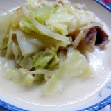 春キャベツの中華風ミルクスープ☆