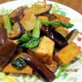 厚揚げ・茄子・小松菜の生姜炒め (我が家の味)