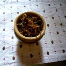 ちりめん山椒 山椒は冷凍しておいたものを使用