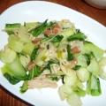 揚げ入り★チンゲン菜と椎茸の簡単中華煮
