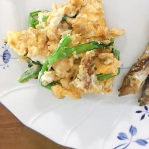 ワンプレートの一品に!小松菜炒り卵
