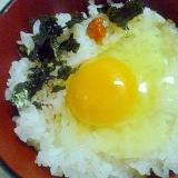 簡単♪朝ごはん♪焼き海苔と生一味のたまごかけご飯