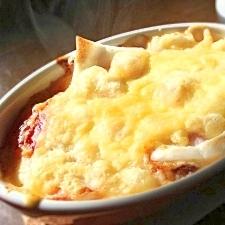 【半端野菜で】簡単餅チーズグラタン【豪華風☆】