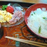 彩り綺麗な素麺ランチ