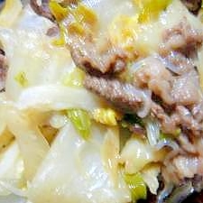白菜☆すき焼き風炒め