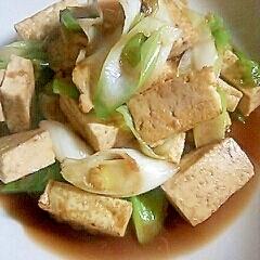 しょうがたっぶり焼き豆腐炒め