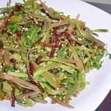 春野菜☆セリときくらげの中華風和え♪