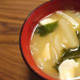 干し甘エビの出汁でお味噌汁