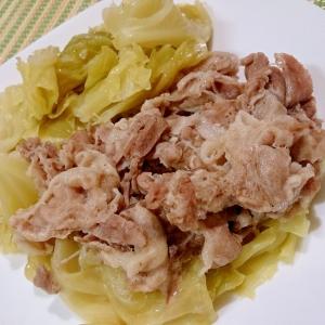 豚バラとキャベツの蒸し煮 圧力鍋