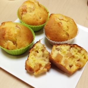 バター不使用!!紅玉りんごたっぷりカップケーキ