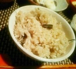 炊飯器で簡単、なまこの山椒ご飯