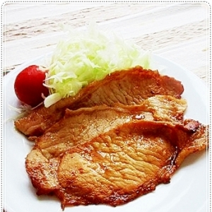 仕上げはレンジで☆作り置きする豚肉の生姜焼き♪