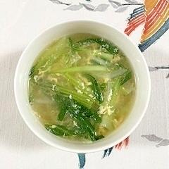 チンゲン菜と玉葱のスープ