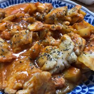余ったミネストローネで☆鶏肉のトマトチーズ煮込み