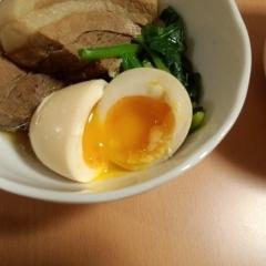 やわらか角煮と半熟煮卵