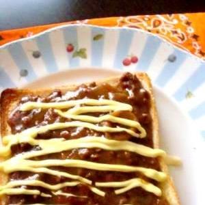 朝食に♪簡単カレートースト