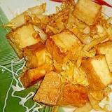 厚揚げと白菜のキムチマヨ炒め