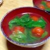 レタスとプチトマトの中華スープ