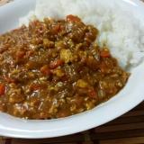 豆腐で簡単ヘルシー!キーマカレー♪
