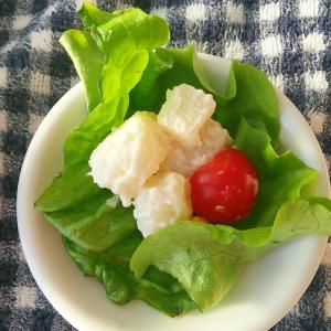 サラダ菜とじゃがいもとミニトマトのサラダ