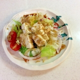 豆腐とジャコのサラダ