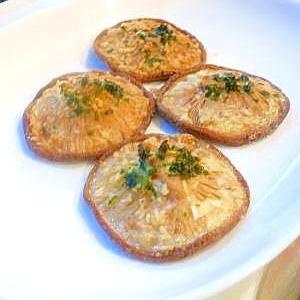 椎茸のガーリックバター焼き。