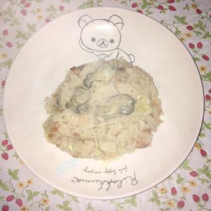 牡蠣と白菜の卵とじ炊き込みご飯