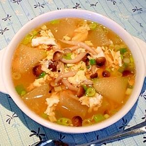 「とろっとろ」冬瓜の中華スープ。
