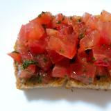 トマトのブルスケッタ風トースト