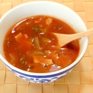 トマトジュースで♪セロリのトマトスープ