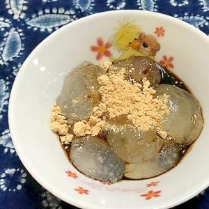 片栗粉で作る わらび餅風デザート