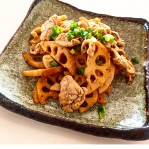 お弁当にどうぞ♬ レンコンと豚肉炒め
