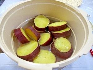 マイヤー電子レンジ圧力鍋(2)さつまいものレモン煮