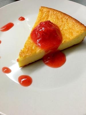 【簡単】混ぜるだけ!しっとりチーズケーキ