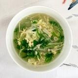 水菜とえのきの卵スープ