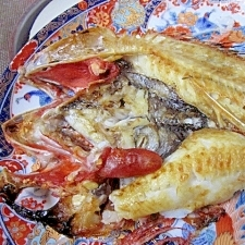 函館の高級魚「きんき」を家庭用グリルで塩焼き