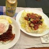ロコモコ丼風