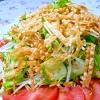 生野菜サラダ♪トッピングはフライド…餃子の皮!
