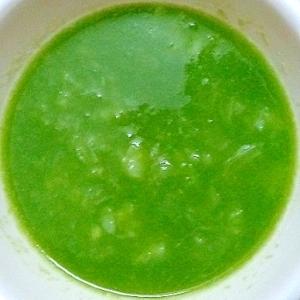 離乳食 玉ねぎ&じゃがいも&緑豆入ほうれん草スープ