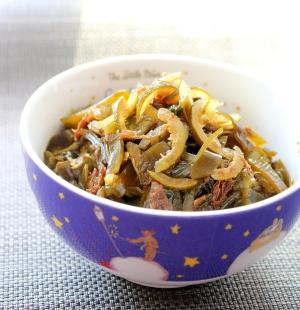 徳島産すだちの果皮と昆布の佃煮