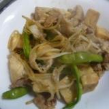 豚肉と高野豆腐の炒め物