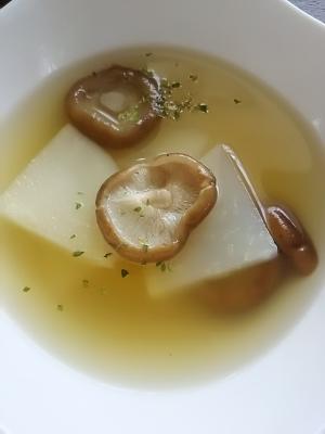 カブとしいたけのスープ(^^)